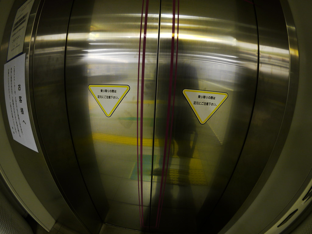 A elevator in subway station