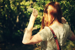 I feel more like a stranger each time I come home. (Jessica Neuwerth (Fearless)) Tags: trees summer portrait selfportrait tree girl leaves leather forest self hair bag bokeh branches urbanoutfitters redhead purse parted tagsarestupid summermemories forestofbokeh