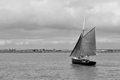 Glissant sur les gouffres amers (jn.r) Tags: travel sea blackandwhite bw mer water clouds vent boat eau wind noiretblanc bateau landskape d5000