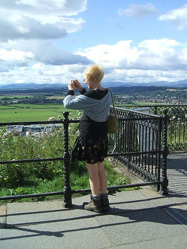 Felix at the Wallace monument
