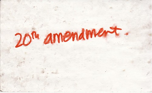 20th amendment
