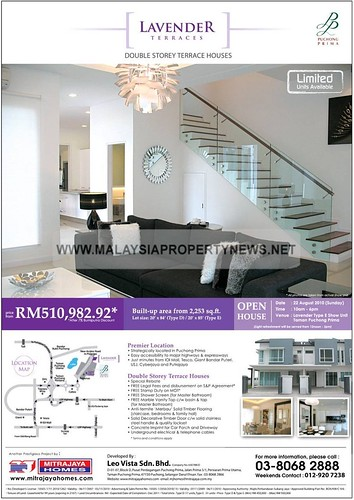 Lavender Terraces Double Storey Terrace Houses in Puchong Prima