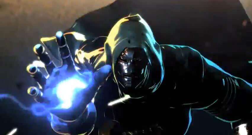 Marvel vs Capcom 3 Fate of Two Worlds Gamescom 2010 Dr. Doom cinematic teaser trailer Unveil