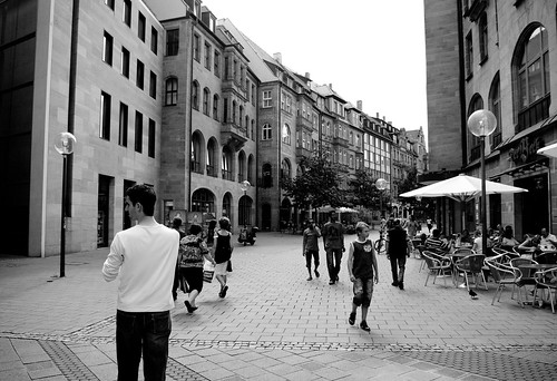 Nuremberg streetscape B&W