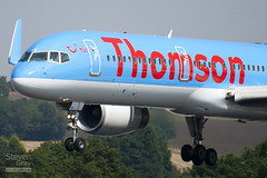 G-OOBD - 33099 - Thomson Airways - Boeing 757-28A - Luton - 100816 - Steven Gray - IMG_1464