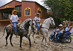 meanwhile back in Mexico..... (uteart) Tags: horses mexico village dancing jalisco horsemen cobblestones ajijic charros galope dancinghorses mywinners utehagen uteart