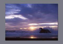 Granite Sentinel (RZ68) Tags: ocean california county sunset sea sun seascape 120 beach rock set clouds cat mediumformat bay coast waves sonoma velvia bodega 6x7 splash scape provia crashing splashing rz67 e100 rz68