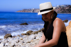 0011_SuzieTest (katNovoa) Tags: lighthouse southbay beachhat pointvincent shortblackdress suzielara