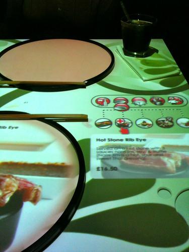 Inamo interactive table menu