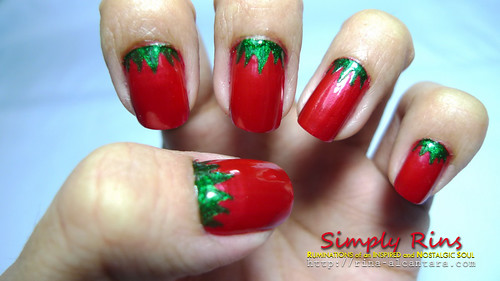 Nail Art Strawberries 02