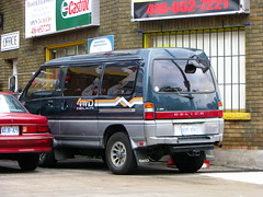 Mitsubishi Delica (MSVG) Tags: mitsubishi delica l300 star wagon 4wd exceed chamonix toronto ontario canada crystal lite roof light sun moon l400 space gear van bus spacegear minibus mini dailycommute right hand drive imported import