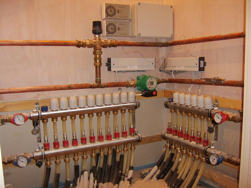 Underfloor heating - After wiring