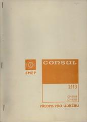 Consul 2113 -- Service instructions / Předpis pro údržbu