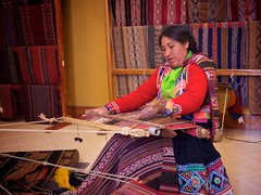 CTT - Weaver At Work (middlekidd) Tags: peru colors cuzco cusco traditional 20mm textiles weaving gf1 qosqo