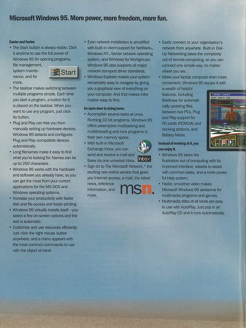 Windows 95 brochure - page 2