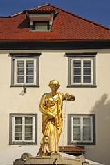 Slovenia - Ljubljana - Courtyard Statue (Darrell Godliman) Tags: travel copyright travelling tourism fountain statue gold golden nikon europe eu slovenia ljubljana slovenija oldtown europeanunion allrightsreserved travelphotography europeseunie slovenien unineuropea instantfave unioneuropenne republikaslovenija omot travelphotographer flickrelite dgphotos darrellgodliman wwwdgphotoscouk d300s dgodliman nikond300s slovenialjubljanacourtyardstatuedsc2562