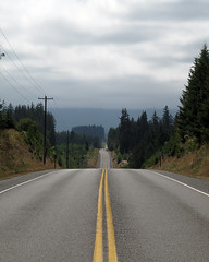 The road runs on... (Derek Lyons) Tags: road vanishingpoint washington olympicpeninsula portangeles sequim 2010 canong10