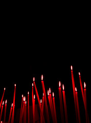 Red tribute (: Ttine :) Tags: light red church forest rouge candle darkness lumire flame flamme foret clair eglise pacifier bougie obscur gist czerwony tetine