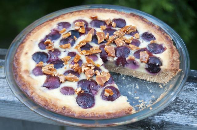 Cherry Amaretto Clafoutis Tart..