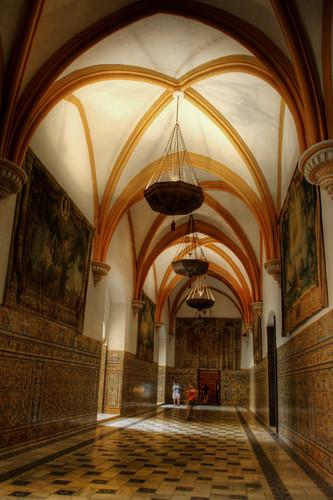 Gothic room. Reales Alcázares. Sala gótica.