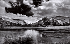 Llyn Padarn - BW (Etrusia UK) Tags: uk greatbritain trees sky blackandwhite plants lake mountains water grass wales clouds photoshop landscapes nikon britishisles zoom unitedkingdom britain lakes wideangle gb llanberis snowdonia hdr pictureperfect gwynedd vegatation d300 nikkorlens llynpadarn 18200mm photomatix nikonlens vrlens nikon18200mm nikon18200 nikkor18200mmvr 7xp nikkor18200mm nikkor18200 nikon18200mmvr 18200mmlens nikond300 grassandplants