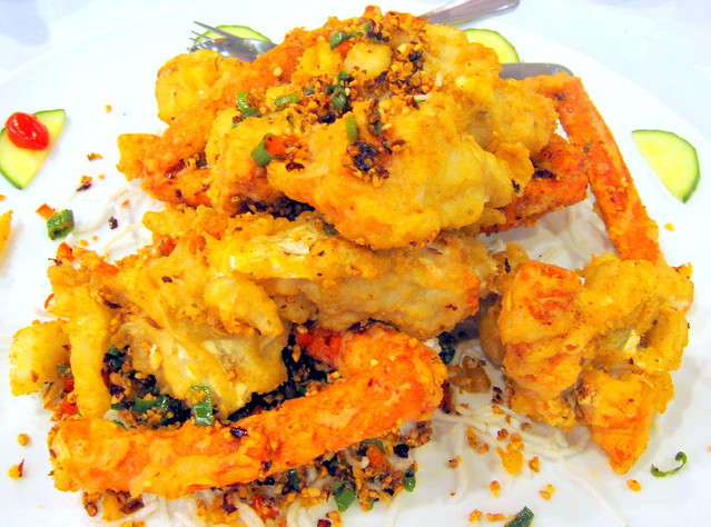 Deep Fried Lobster Tail with Garlic and Chili Pepper