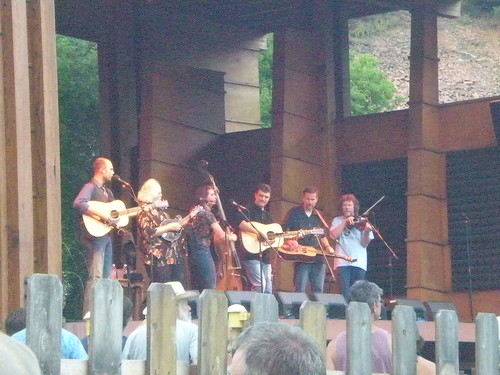 Wyatt Rice, Josh Williams, Rob Ickes, Bryan Davies, and David Grisman (not in order!)