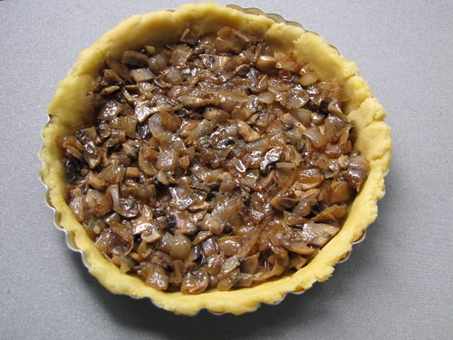 Golden Onion Mushroom Quiche Recipe