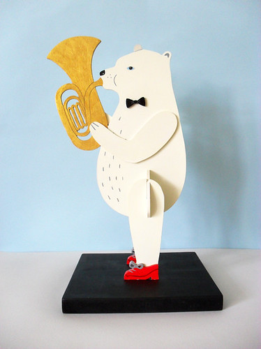 Polar Bear Playing Tuba