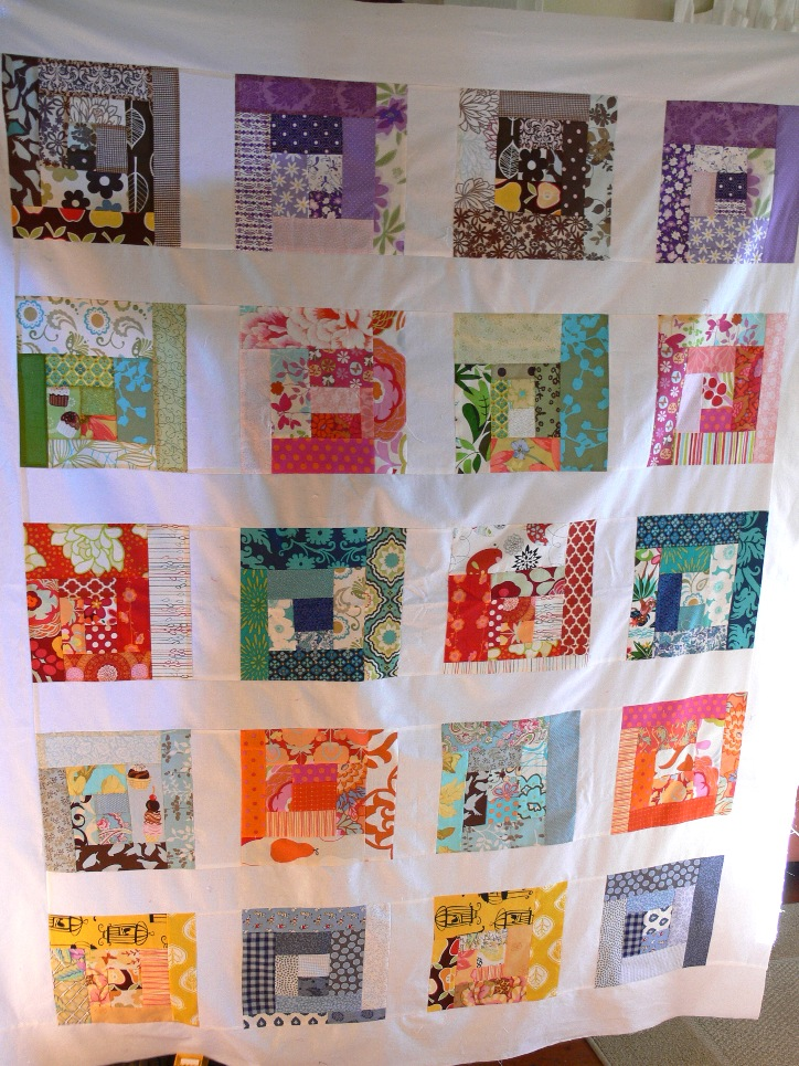 Jenny: Scrappy Squares Quilt Top
