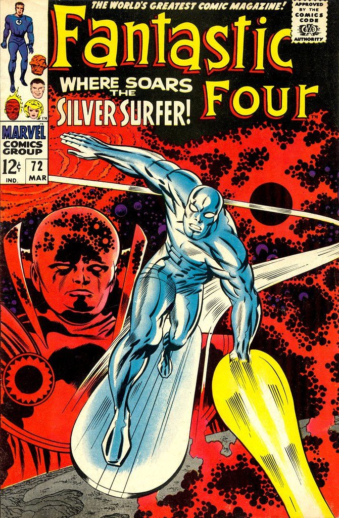 Fantastic Four 072 Silver Surfer cover by Jack Kirby 1967