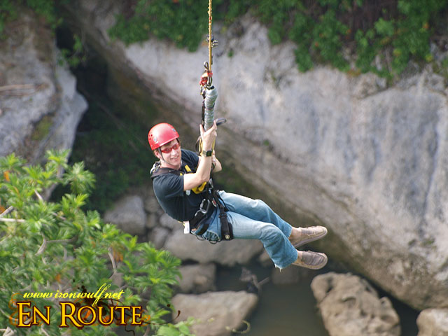 Swinging high on the gorge