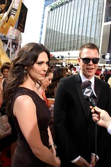 Michelle Forbes and Jim Parrack of HBO's 'True Blood' at the 2010 Emmys (djtomdog) Tags: television losangeles tv hbo michelleforbes emmys nokialive tvjunkie trueblood thomasattilalewis jimparrack hoytfortenberry thetvjunkie primetimeemmy maryanneforrester