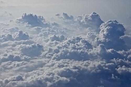 Nubes sobre el Océano Pacífico