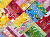 Rainbow of Color Scrap Quilt Detail