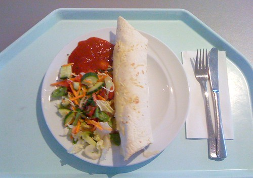 Tortilla mit Salat / Tortilla with salad