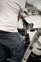 Live Stenciling in London (urbanartcore.eu) Tags: street urban streetart london art argentina wall stencil urbanart shoreditch che spraypaint aerosol stencilart cheguevara pochoir rdw rundon'twalk