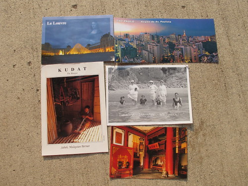 Some of my first postcards from postcrossing