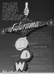 San Jose Modern Tour Flier (hmdavid) Tags: architecture modern tour sanjose bowl futurama googie midcentury