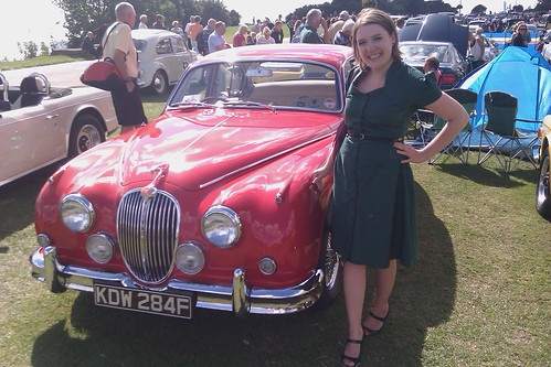With a vintage Jaguar in Folkestone