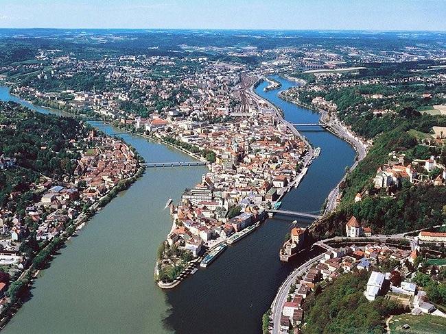 Vista aérea de Passau