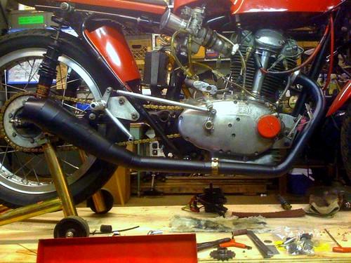 Ducati 250rr exhaust