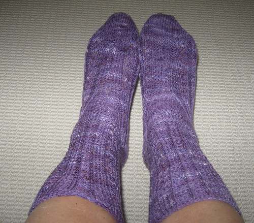 Purple July Socks