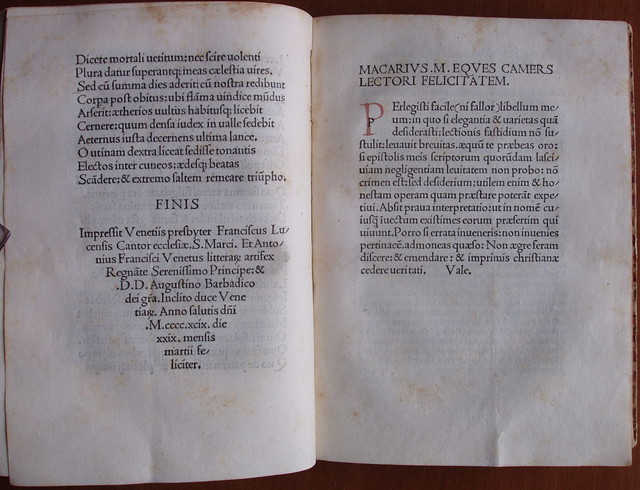 Macarius Mutius, colophon