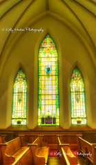 Three Stained Glass Windows (Kelly_Heaton_Photography) Tags: windows church glass stained workshop pews warmlight creativecomposition edheaton