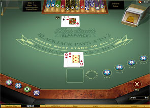 High Streak European Blackjack Gold Win