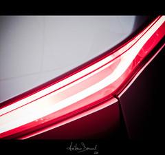 Cut (Antonin Douard) Tags: blue light red abstract paris car grey aluminum citroen wing jaguar carbon aluminium cx75 survolt