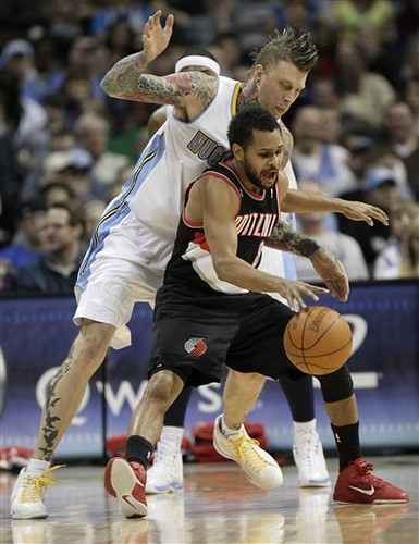 Trail Blazers Nuggets Basketball