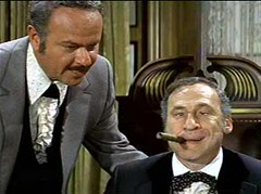 Harvey Korman and Mel Brooks in Blazing Saddles