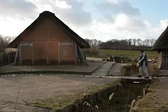 Wulf Freese bei den Wikinger Häuser im Museum Haithabu WHH 08-02-2011